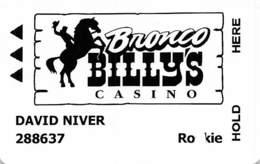 Bronco Billy's Casino - Cripple Creek, CO - Slot Card   ...[RSC]... - Casino Cards