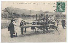 AVIATION - Les Pionniers De L'air - L'Aéroplane De Mr PISCHOFF ( Gros Plan Animé ) - TTB Etat - Flieger