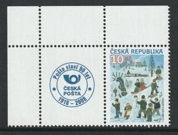 CZECH REPUBLIC 2008 Winter Games: Single Stamp + Label UM/MNH - República Checa