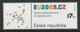CZECH REPUBLIC 2008 Presidency Of The EU Council: Single Stamp UM/MNH - República Checa