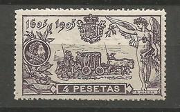 España Spain Espagne Edifil 265 Mint / MH / * 1905 Cervantes - 1889-1931 Kingdom: Alphonse XIII