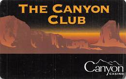 Canyon Casino - Black Hawk, CO - BLANK 1st Issue Slot Card   ...[RSC]... - Casino Cards