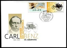41445) BRD - USo ? - EVST OO Gestempelt 53113 BONN - 25C Neben 55C    175. Geburtstag Carl Benz, Ausg.: 02.11.2019 - [7] Federal Republic