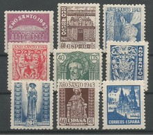 España Spain Espagne Edifil 961/69 Complete Set Mint / MH / * 1943 - 1931-50 Unused Stamps
