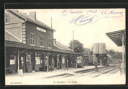 CPA Le Quesnoy, La Gare, La Gare Avec Gleisen - Le Quesnoy