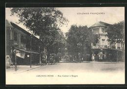 AK Saigon, Rue Catinat, Häuserfassaden - Vietnam