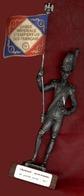 ** STATUETTE  LIEUTENANT  PORTE - DRAPEAU  1811 ** - Soldats De Plomb