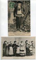 LOT 2 CPA * Costume De GUÉMENÉ (homme) 1er Prix Bretagne Expo Nantes 1910 & Noce Bretonne La Gavotte - Francia