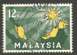 MALAYSIA. 12sen USED SARAWAK POSTMARK - Malaysia (1964-...)