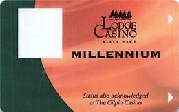Lodge Casino - Black Hawk, CO - BLANK 9th Issue Millennium Slot Card  ...[RSC]... - Casino Cards
