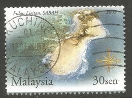 MALAYSIA. 2003. 30c SABAH USED KUCHING POSTMARK - Malaysia (1964-...)