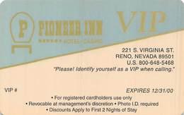 Pioneer Inn Casino Reno NV - 2000 VIP Slot Card   ...[RSC]... - Casino Cards