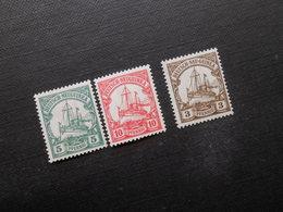 D.R.Mi 21 L*/22 L*/24*MLH  Deutsche Kolonien (Deutsch-Neuguinea)  1914/1919 - Mi 10,00 € - Colony: German New Guinea