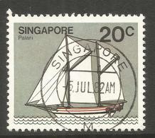 SINGAPORE. 1982. 20c BOAT USED - Singapore (1959-...)