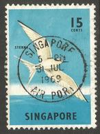 SINGAPORE. 1969. 15c SEA BIRD USED - Singapur (1959-...)