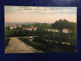 """GISTOUX-----cpa--""""Panorama,environs Du Cimetière--animée--1924 - Chaumont-Gistoux"""