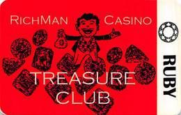Richman Casino - Black Hawk, CO - BLANK 1st Issue Slot Card - Reverse Rightside Up  ...[RSC]... - Casino Cards