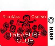 Richman Casino - Black Hawk, CO - BLANK 1st Issue Slot Card - Reverse Upside Down  ...[RSC]... - Casino Cards