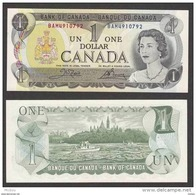 Canada, 1$, 1973, UNCL, Bois, Drave, Bateau, Boat, Wood - Canada
