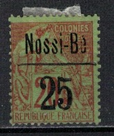 NOSSI-BE            N°  YVERT  :  19      NEUF AVEC  CHARNIERES      (  CH  01/32 ) - Nossi-Bé (1889-1901)