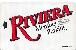 Riviera Casino - Black Hawk, CO - Member Elite Parking Card With Registration Mark ...[RSC]... - Casino Cards