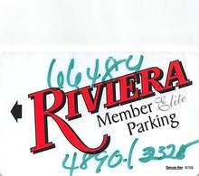 Riviera Casino - Black Hawk, CO - Member Elite Parking Card Without Registration Mark ...[RSC]... - Casino Cards