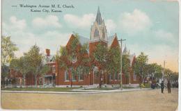 Kansas City KS Washington Avenue ME Church Postcard - Kansas City – Kansas