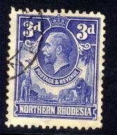 Northern Rhodesia 1925 - 29 KGV 3d Ultramarine Used SG 5 ( J393 ) - Rhodesia Del Nord (...-1963)