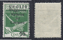 Italy Fiume 1920 Issue For Veglia (Krk) Island, Value 55 C / 5 C, MH (*) Michel 33 II - Occupation 1ère Guerre Mondiale