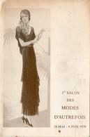 Carte D'invitation Soirée Mai 1979. Forum Des Halles, 1er Salon Des Modes D'autrefois. 2 Scans. - Vintage Clothes & Linen