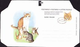 """Finnland Finland Finlande - Faltbrief """"Katzenkopf"""" (MiNr: F 10) 1995 - FDC - Ganzsachen"""