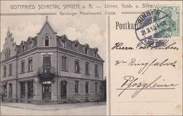 Baden: Ansichtskarte 1910 Von Singen Nach Pforzheim - Baden