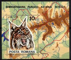 1985Romania4178/B218Cats - Felinos