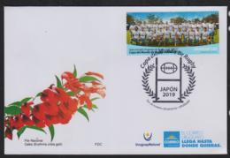 RUGBY - URUGUAY - 2019 - RUGBY WORLD CUP  ON ILLUSTRATED FIRST DAY COVER - Rugby