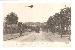 DEP. 92 FONTENAY-AUX-ROSES N°43 AVENUE DE SCEAUX - LES COTEAUX Tramway, Aéroplane, Animée - Fontenay Aux Roses