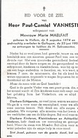 Halluin, Gullegem, 1959, Paul Vanneste, Maelfait - Devotieprenten