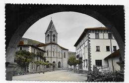 (RECTO / VERSO) VALCARLOS - LUZAIDE EN 1960 - IGLESIA PARROQUIAL - BEAU CACHET - FORMAT CPA VOYAGEE - Navarra (Pamplona)