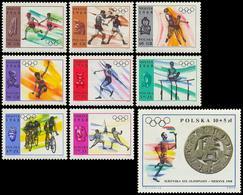 ** Poland - 1968 - Olympic Games 1968 - Mi. 1855-63 - Summer 1968: Mexico City