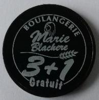 Jeton De Caddie - Boulangerie Marie Blachere - 3+1 Gratuit - Patisserie Sandwicherie - En Plastique - - Jetons De Caddies