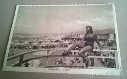 VIAREGGIO SPIAGGIA   PIN UP   VIAGGIATA 1942  (185) - Pin-Ups