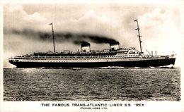 THE FAMOUS TRANS ATLANTIC LINER SS REX ITALIAN LINE - Paquebote
