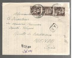 25495 - NICE Recommandé Provisoire - Storia Postale