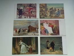 Beau Lot 60 Cartes Postales Fantaisie Peintures  Peinture     Mooi Lot 60 Postkaarten Fantasie  Schilderijen  Schilderij - Postkaarten