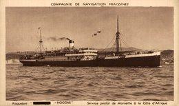 """PAQUEBOT """" HOGGAR """" Service Postal De Marseille A La Cote D'Afrique - Paquebote"""