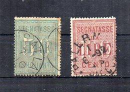 Italia - Regno - 1884 - Servizi - Segnatasse - 2 Valori - Usati - (FDC18725) - 1878-00 Humbert I.