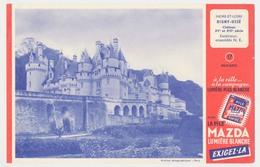 Buvard 20.7 X 13.5 La Pile MAZDA éclairage Portatif N° 17 Château De Rigny-Ussé Indre Et Loire XV° Et XVI° Siècle - Elektrizität & Gas