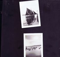 2 Photos Anciennes Douarnenez ,sardiniers Et Thonnier 1930 - Plaatsen