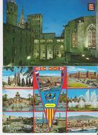 BARCELONE. 2 CP  Place Du Roi - Multivues - Barcelona