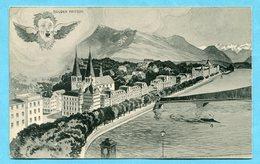 Luzern Mit Bruder Fritschi 1907 - LU Luzern