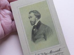 ALFRED De MUSSET > Anno > 1810 / 1857 Poëzie / Toneel / Schrijver / Dichter ( Zie / Voir Photo ) Bijgesneden ! - Beroemde Personen